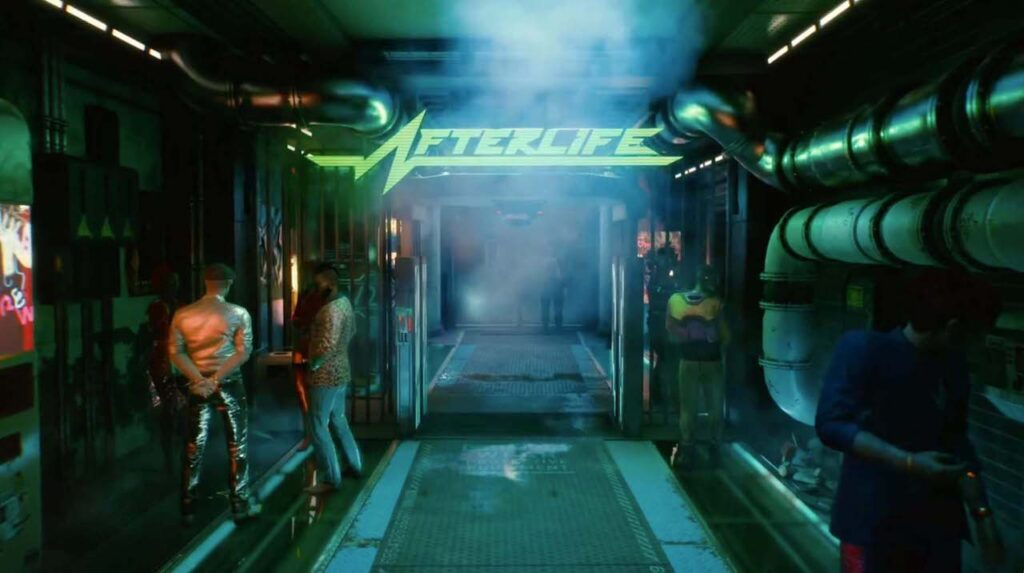 Cyberpunk 2077 - Mercs, Afterlife Bar Night City Legendary Mercs How to Become a Legend in Night City