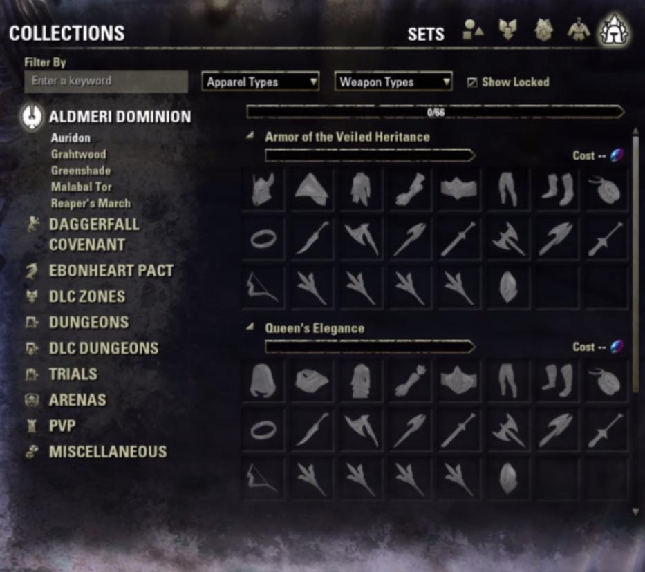 Item Set Selections