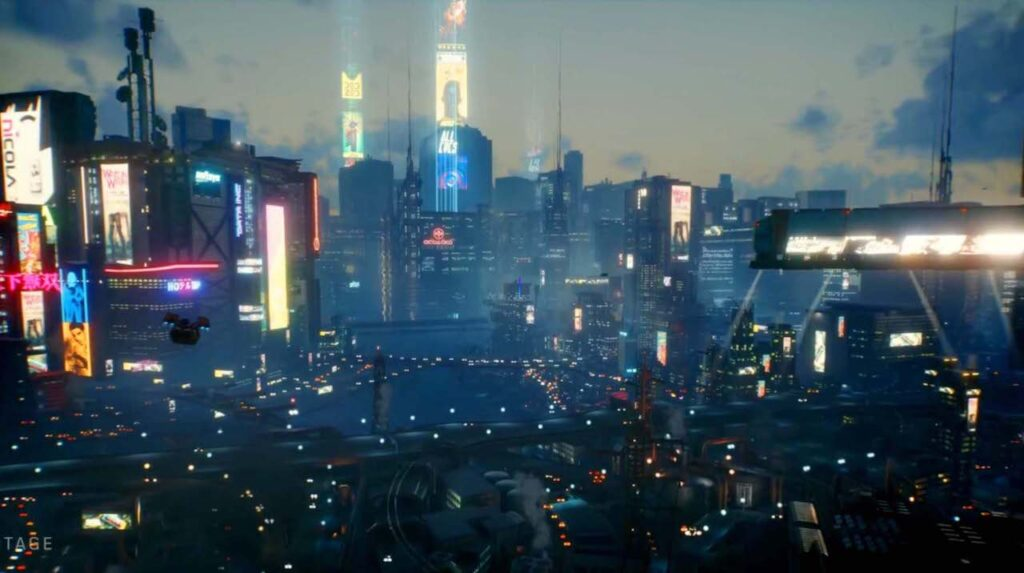 Cyberpunk 2077 - Mercs, Tour of Night City California coast all streets have names